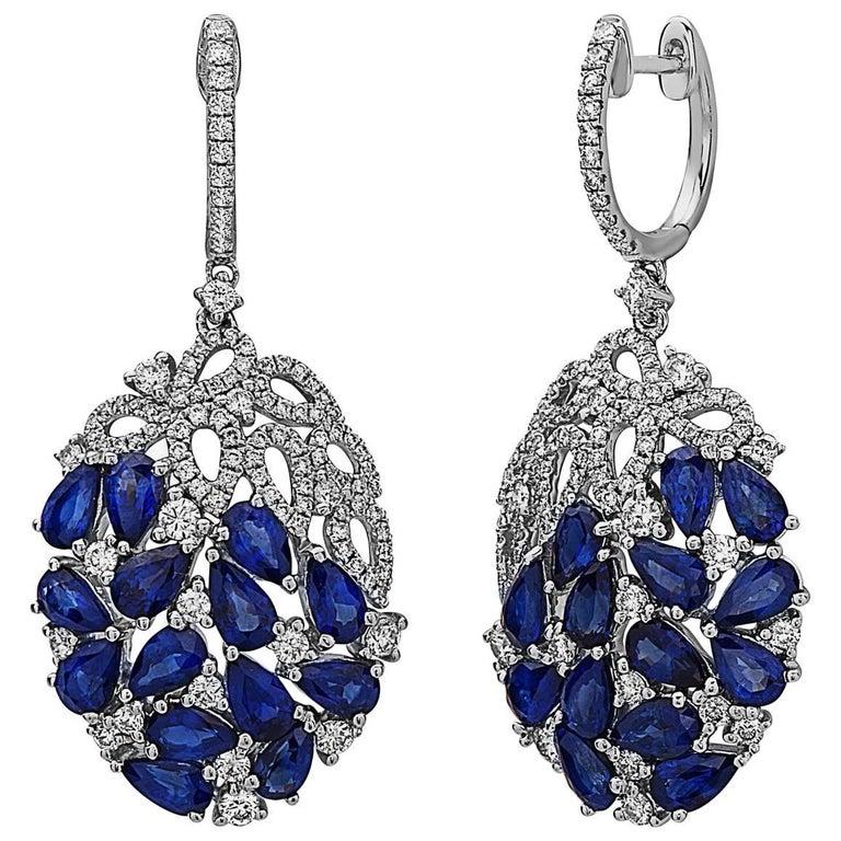 Emilio Jewelry Sapphire Dangle Earrings