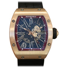 Richard Mille Rose Gold Skeletonized Dial Automatic Wristwatch