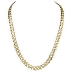 Distinctive Beveled Link Gold Necklace