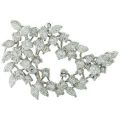 7 Carat Diamond Convertible Brooch Paisley Pendant