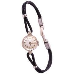 1940s Rolex Diamond and 14K Gold Miniature Ladies Wristwatch