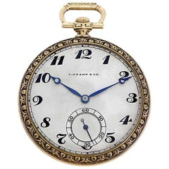 Tiffany & Co. Yellow Gold Manual Wind Pocket Watch