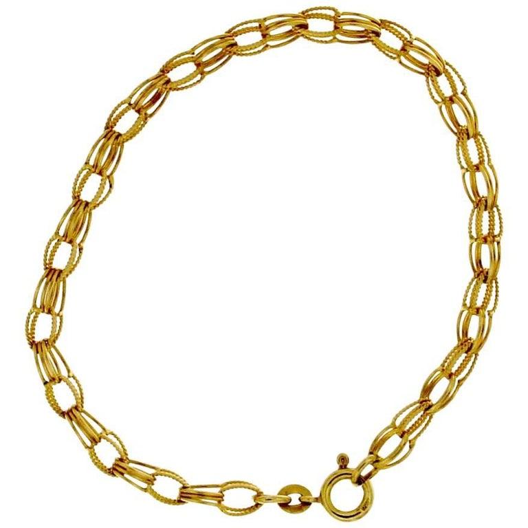 18 Karat Gold Chain Bracelet