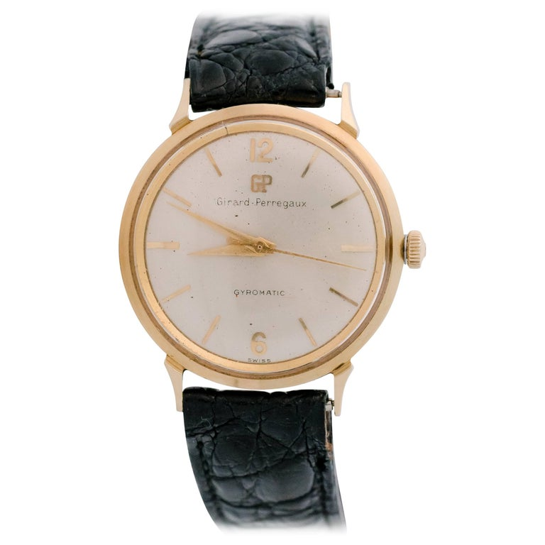1950s Girard Perregaux Gyromatic 14K Gold Wristwatch