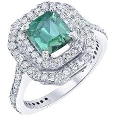 2.75 Carat Tourmaline Diamond Cocktail Ring