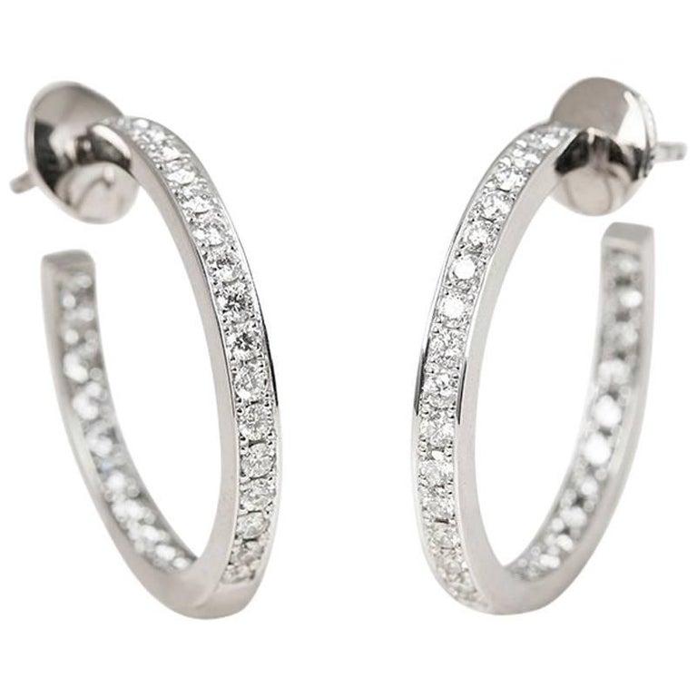 Cartier Diamond Inside Out Hoop Earrings