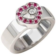 Chopard Ruby Happy Diamonds Ring