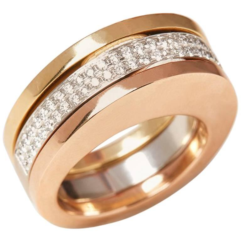 Tiffany Co Gold Stackable Ring For