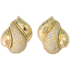 Henry Dunay Gold and Diamond Earrings
