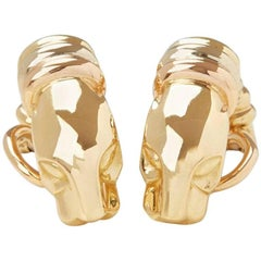 Cartier Yellow Gold Panthère Earrings
