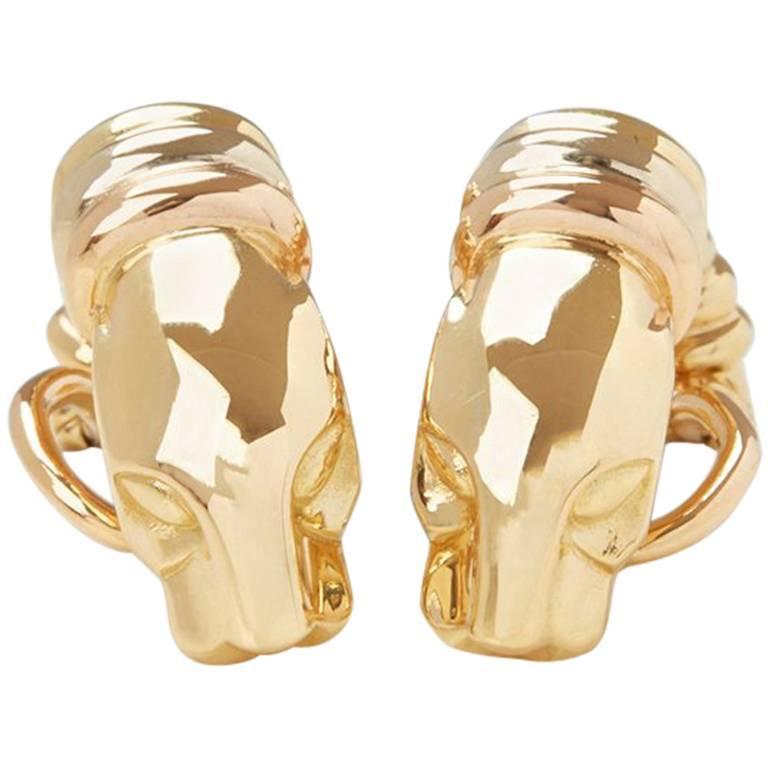 Cartier Yellow Gold Panthère Earrings