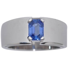 Ceylon Sapphire 1.04 Carat White Gold Ring