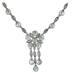 Antique Georgian Paste Silver Necklace, circa 1800