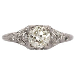 1.01 Carat Diamond and Platinum Engagement Ring