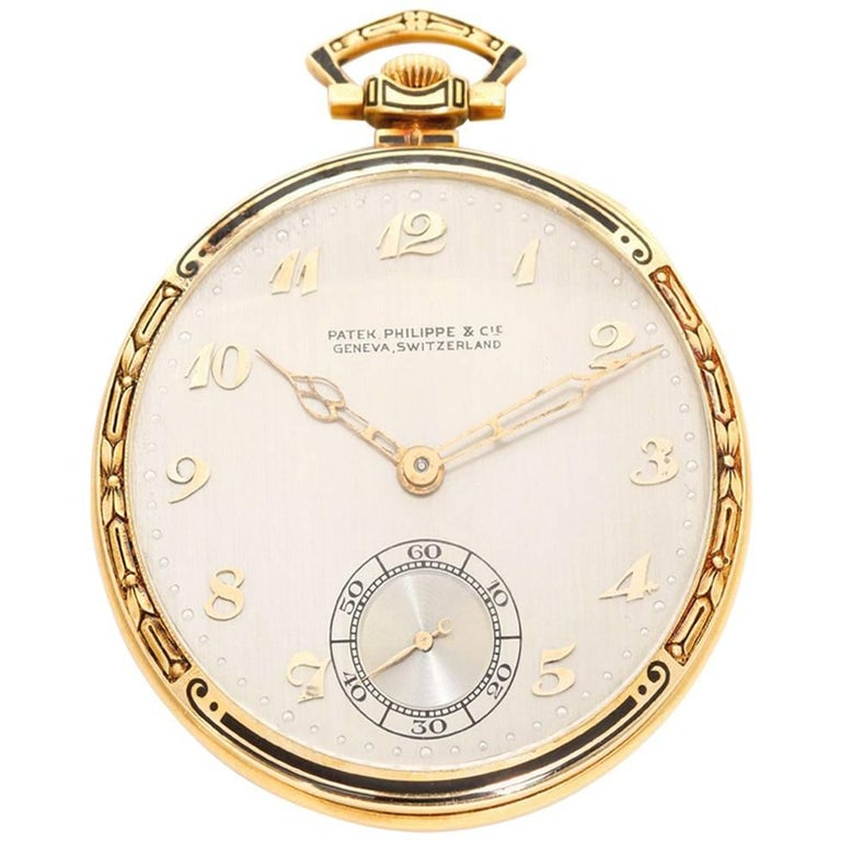 Patek Philippe Yellow Gold Vintage High Grade Manual Pocket Watch