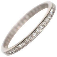 .80 Carat, Total Weight Diamond Platinum Wedding Band