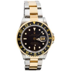 Rolex Yellow Gold Stainless Steel GMT Master II Wristwatch