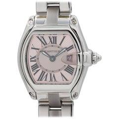 Cartier Stainless steel Lady Roadster ltd ed Breast Cancer quartz wristwatch