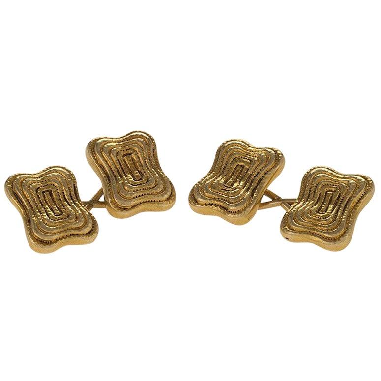 Tiffany & Co. Art Nouveau Gold Cuff Links
