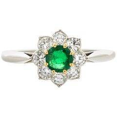 Cartier  Emerald Diamond Ring