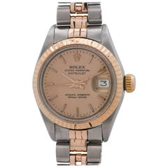 Rolex ladies pink gold stainless steel Oyster Perpetual Date wristwatch, 1973