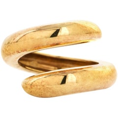 Chaumet Paris 18 Karat Yellow Gold Snake-Design Ring