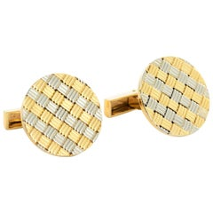 Van Cleef & Arpels 18 Karat Yellow and White Gold Cufflinks