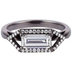 Cushla Whiting 'Zola' Emerald Cut 1.01 Carat Diamond Engagement Ring Set in Gold