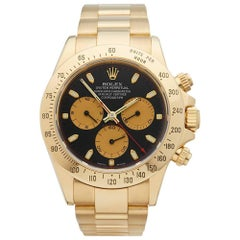 Rolex Yellow Gold Daytona Automatic Wristwatch Ref 116528