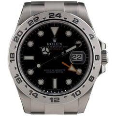 Rolex Stainless Steel Explorer II Black Dial Automatic Wristwatch Ref 216570