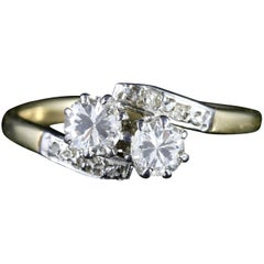 Antique Edwardian Diamond Twist Engagement Ring, circa 1910