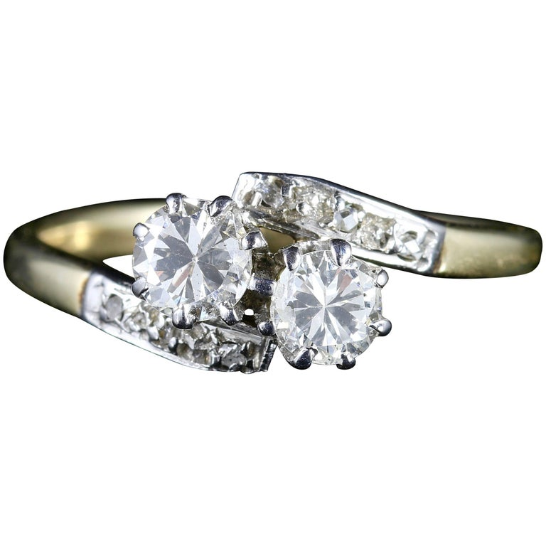 Antique Edwardian Diamond Twist Engagement Ring, circa 1910 For Sale