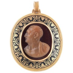 Agate Cameo of by Girometti, First Half of the 19th Century