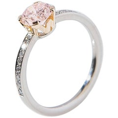 "Ring, White and Rose Gold, Natural Faint Pink Diamond ""Wagner Collection"""