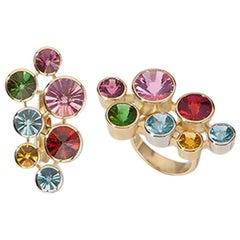 """Ring, Gold, Platinum, Multiple Stones """"Atelier Munsteiner"""""""