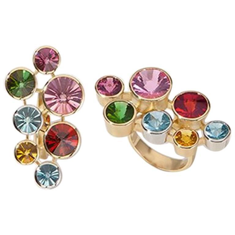 """Ring, Gold, Platinum, Multiple Stones """"Atelier Munsteiner"""" 1"""