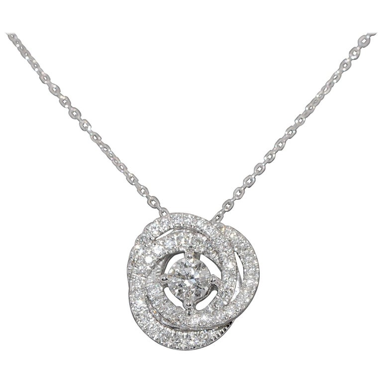 Diamonds G SI and White Gold 18 Carat Pendant Necklace