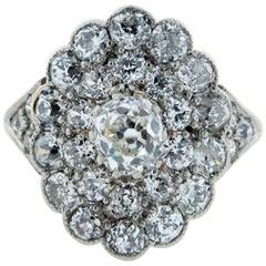 Park Place Antique Jewelry Platinum And 18 Karat Diamond Ring