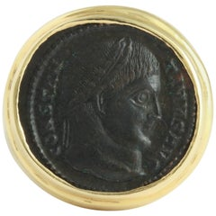 Bronze Head of Constantine 1, Mounted as a Ring