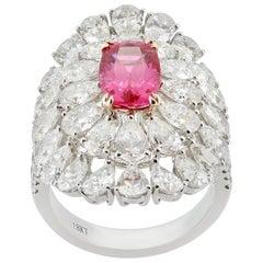 2.20 Carat Pink Spinel Diamond Cocktail Ring