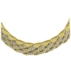 Large Diamond Collar Necklace
