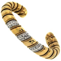 Sabbadini Gold and Diamond Bracelet