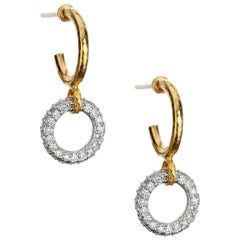 "Gurhan ""Hoopla"" Diamond Drop Earrings in Yellow and White Gold"