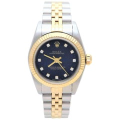 Rolex Ladies Yellow Gold Stainless Steel Oyster Perpetual Automatic Wristwatch