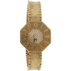 Buccellati Ladies Yellow Gold Diamond Oktachron Wristwatch