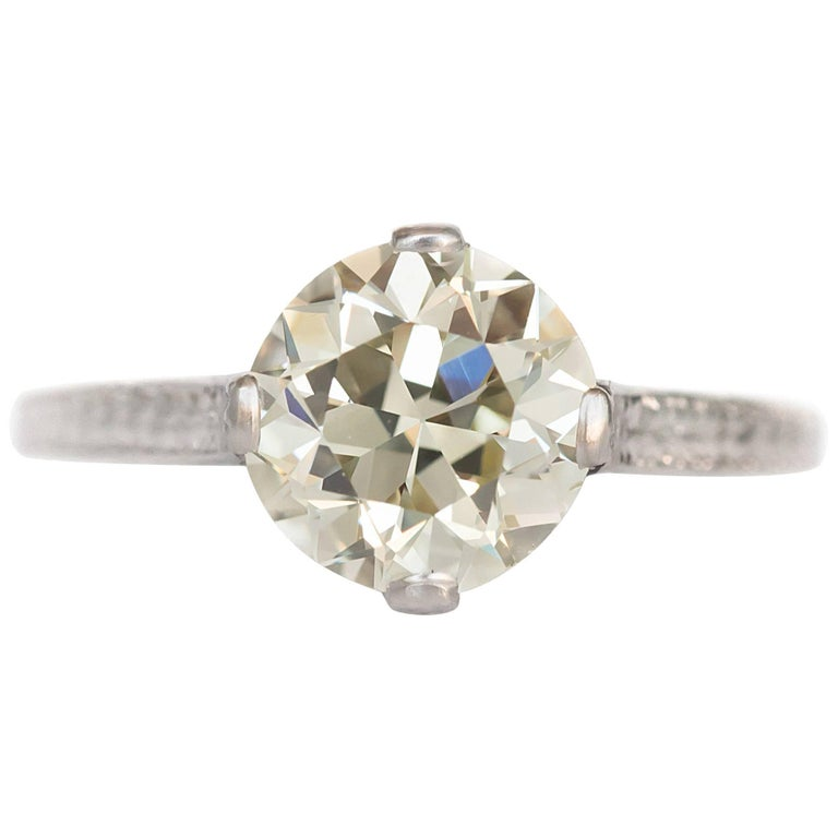 2.40 Carat Diamond Platinum Engagement Ring