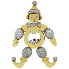 Chopard Happy Clown Multi-Stone and Diamond Pendant