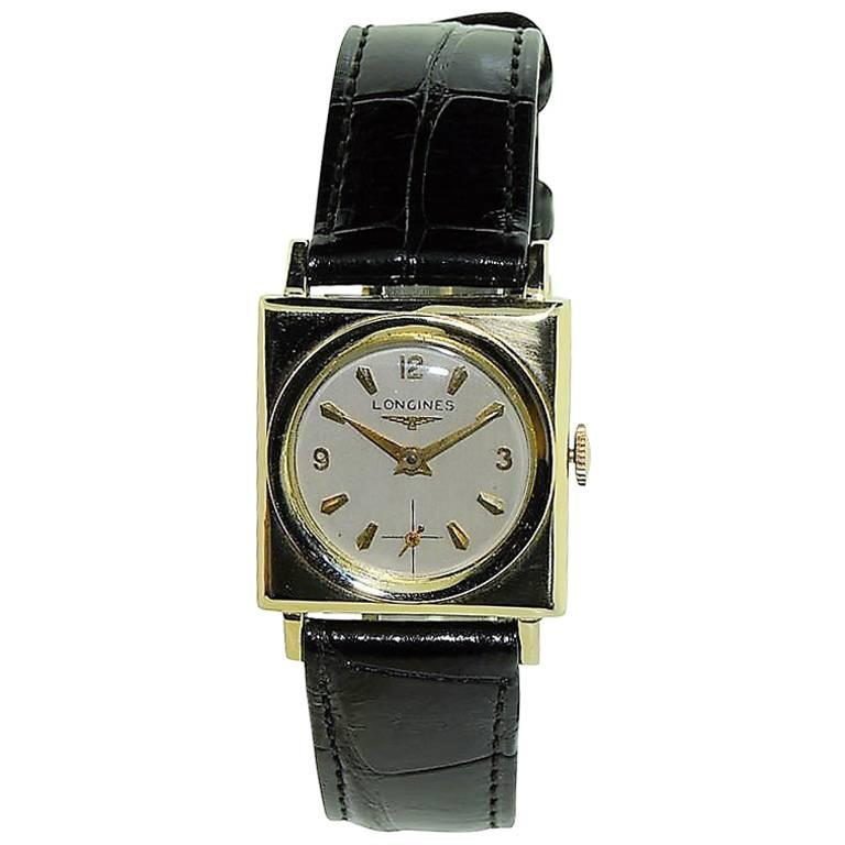 Longines Yellow Gold Architectural Theme Manual Watch