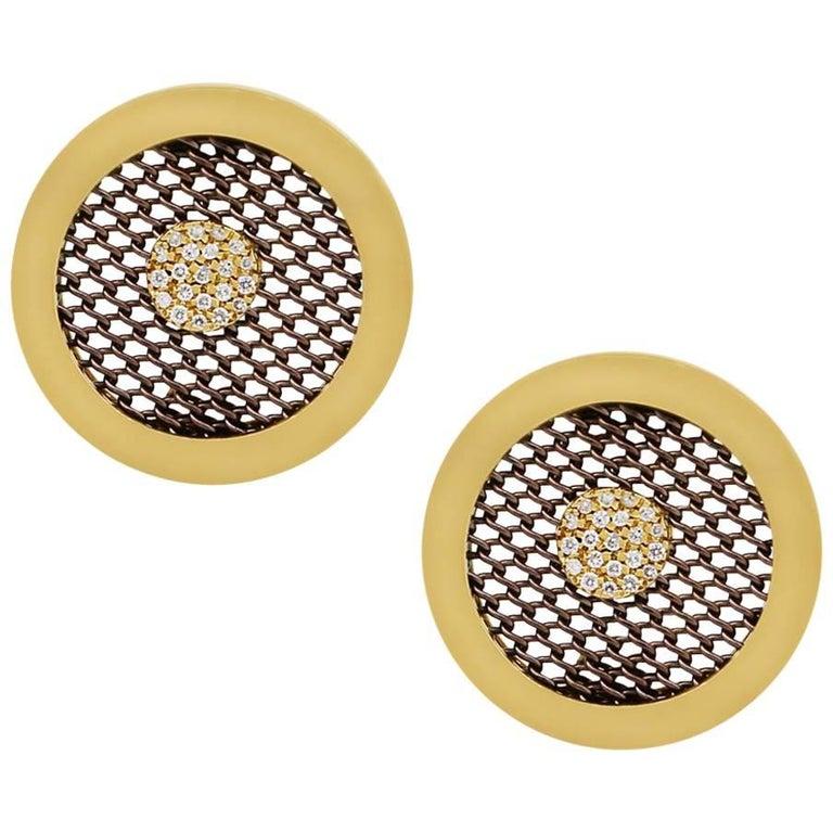 Sabbadini Clip-On Diamond Earrings