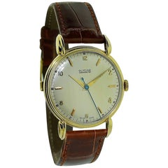 Glycine Yellow Gold Art Deco Classic Round Manual Watch
